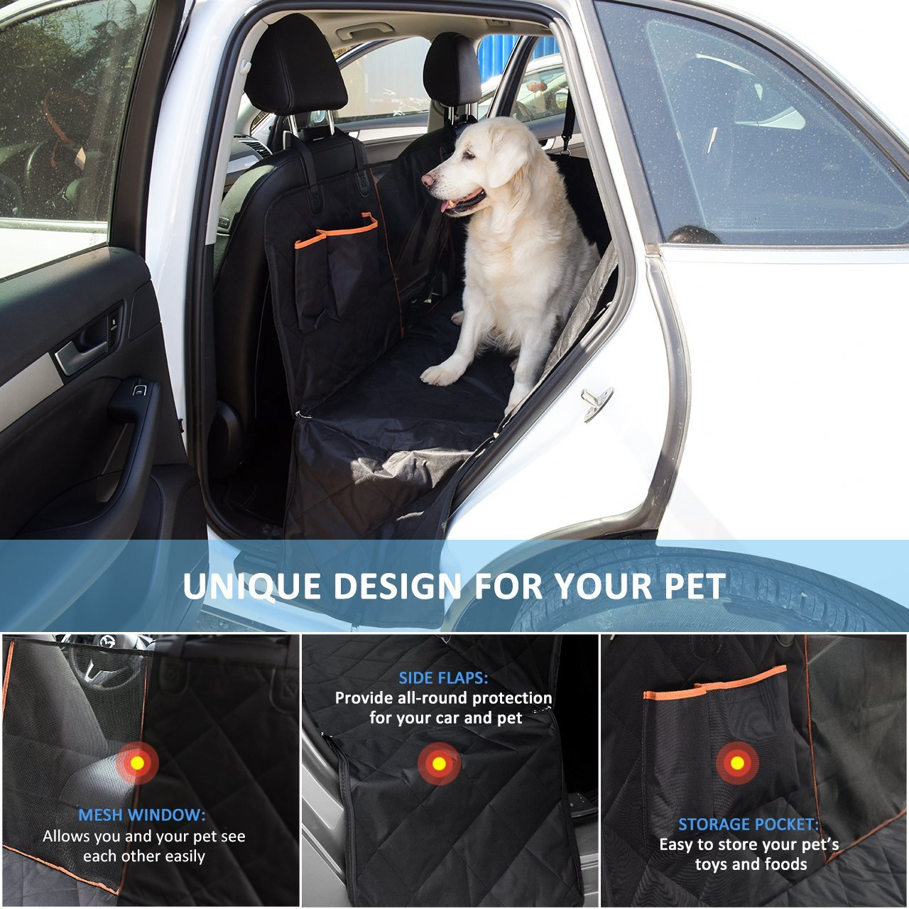 2018 New Pet Seat Cover With Storage Pocket Waterproof Bench Seat Hammock  Bag Car Interior Travel Accessories Mat For Pet Dogs In Dog Carriers From  Home ...