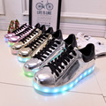 Gold Silver Fashion Flat Shoes Adult Fashion Footwear 7 Colors Dazzling Glowing Shoes