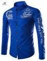 2016 Marca Nova Camisa Dos Homens Camisas de Vestido Masculinas dos homens Moda Casual de Manga Comprida Camisa Formal do Negócio camisa masculina sociais