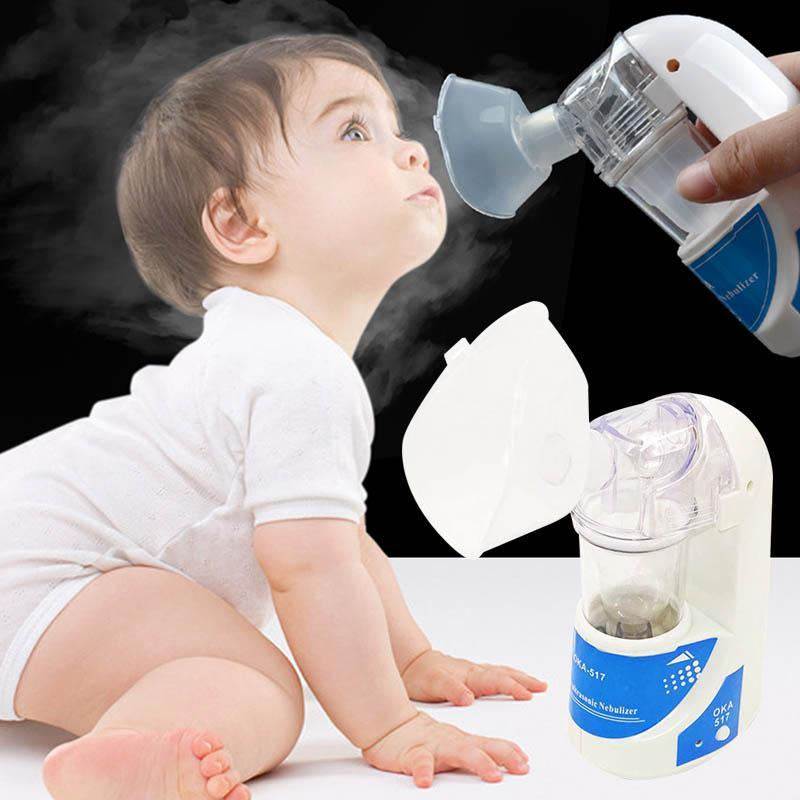 Adult Kid Inhaler Nebulizer Respirator Humidifier Portable Household Mini Handheld Nebuliser Steaming Tool Household Medical C4 home spa portable and silence nebulizer household face mask mini ltrsonic humidifier