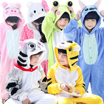 Flannel Kids Pajamas Animal Onesie Boys Girls Sleepwear Stich Pikachu Panda unicorn Halloween Christmas children Cute Nightie - Category 🛒 All Category