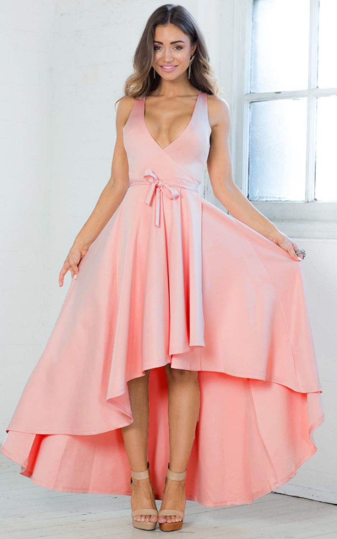 Online Get Cheap Corto Delantero Volver Largo Vestido De Baile ...