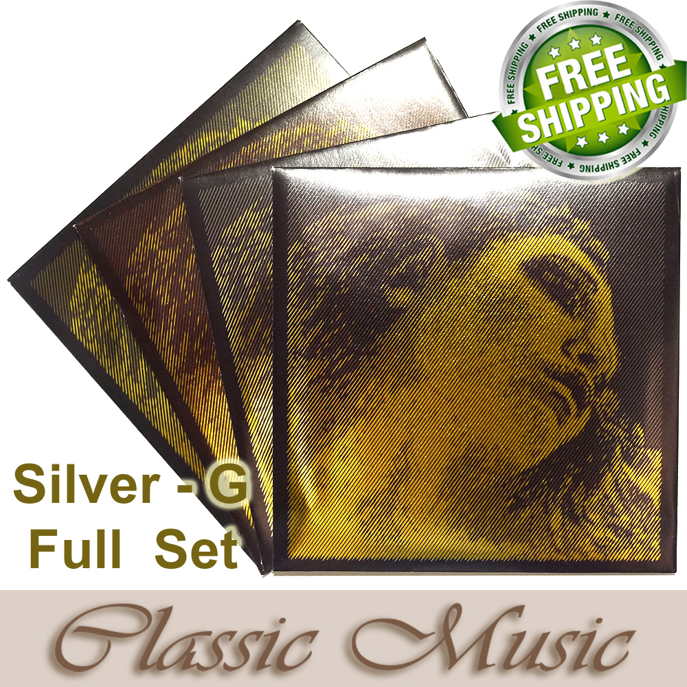 Free shipping ,Evah Pirazzi Gold Violin Strings Full Set (Sliver G) ,Set Ball End, 4/4, made in Germany free shipping evah pirazzi violin strings full set ball end made in germany for 4 4