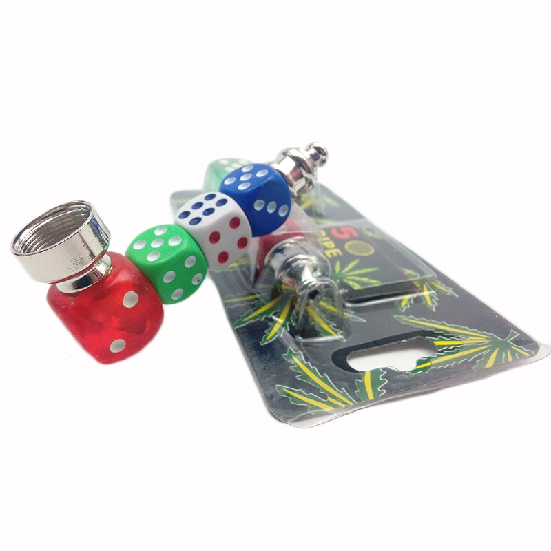 Dice Creative Metal Pipe Weed Tobacco Pipe Smoking