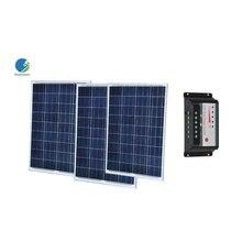 цена на Solar Panel 12v 100w 3 Pcs Solar Kit 300w Solar Charge Controller 12v/24v 30A Yacht Boat Caravan Marine Autocaravanas Camp Car