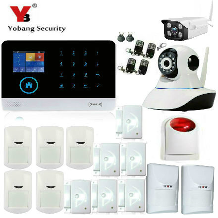 YobangSecurity Android IOS APP Gsm Wifi Home Alarm System Pet PIR Motion Detector Wireless Siren Outdoor Indoor IP Camera fuers wifi gsm sms home alarm system security alarm new wireless pet friendly pir motion detector waterproof strobe siren