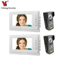 Yobang Security 7″ Wired Video Intercom Doorbell System Video Door Phone Bell Kits interphone doorphone home intercom system