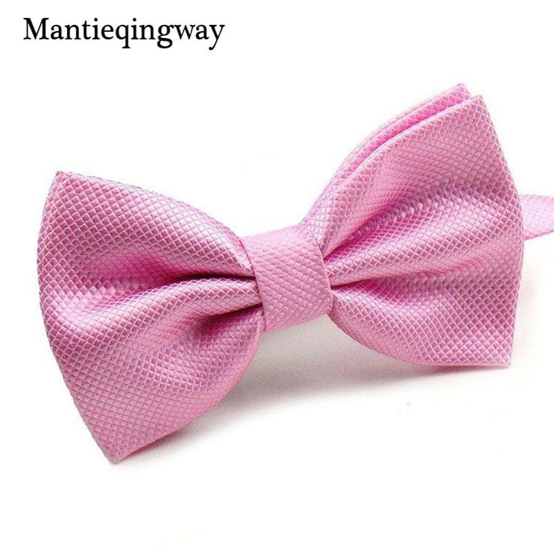 Mantieqingway الجدة حفل زفاف البوليستر ربطة نوي بابيلون الرجال النساء القوس التعادل بلون بولو برقبة رخيصة عنق