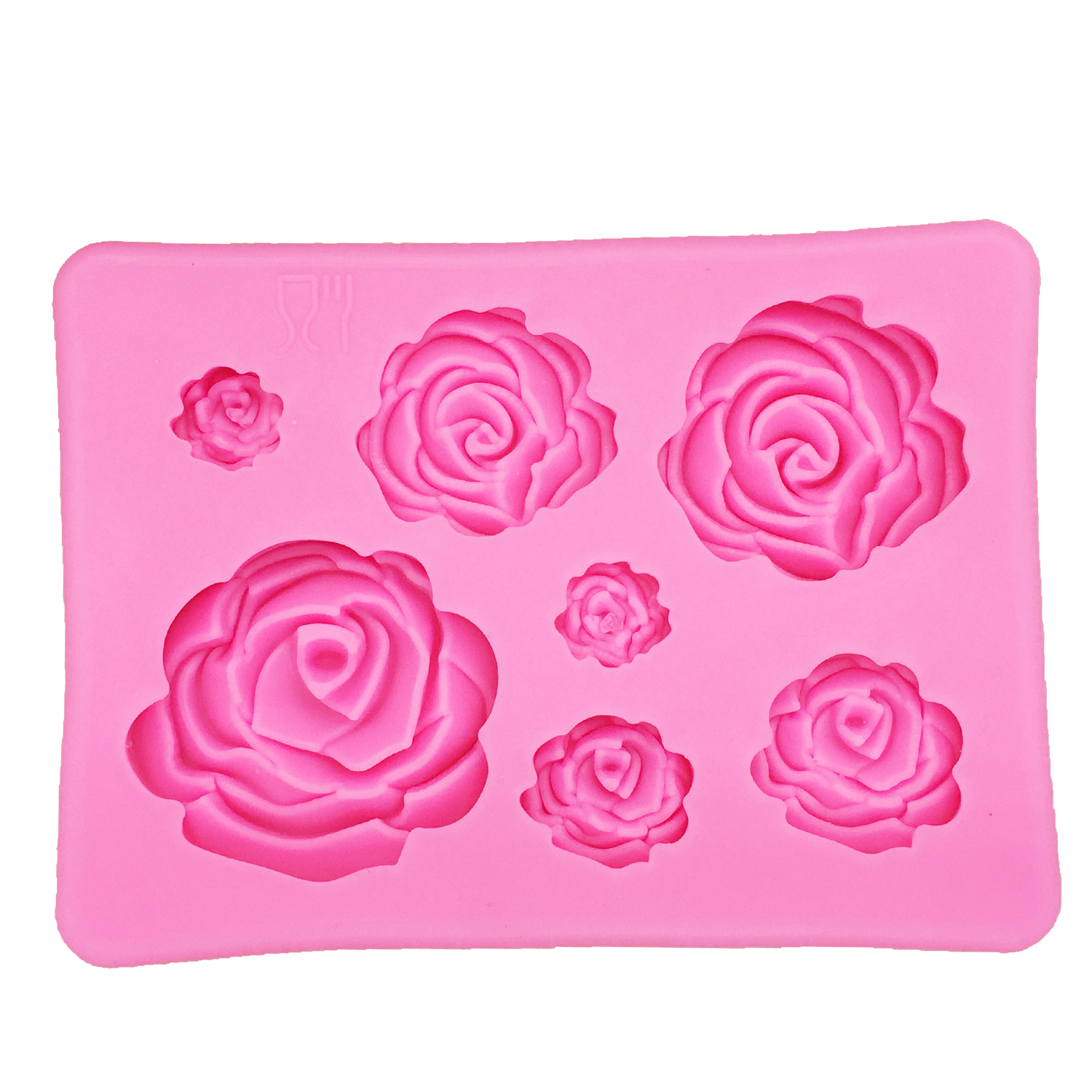 Rose Flowers Silicone Fondant Mold 5