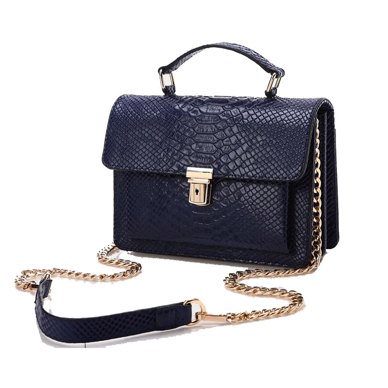 2016 Genuine Leather Women Handbag Crocodile Pattern Fashion Flap Chains Shoulder Bag Luxury Brand Designer Messenger Bag luxury genuine leather bag fashion brand designer women handbag cowhide leather shoulder composite bag casual totes