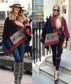 2015 люксовый бренд супер звезда же дизайн 1:1 имитация кашемира пончо большой обертывания красочный плед толщина bufandas одеяло шарф