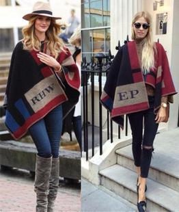 2015 luxury brand super star same design 1:1 imitation cashmere poncho big wraps colorful plaid thickness bufandas blanket scarf