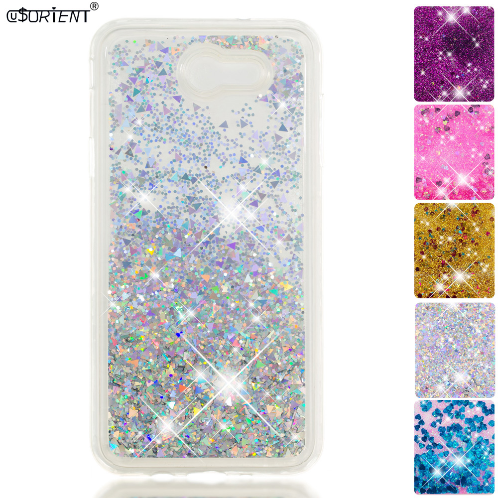 For Samsung Galaxy J7 Perx Prime 2017 Bling Glitter Dynamic Liquid Quicksand Phone Case Sm-j727p J727a Sm-j727v Silicone Cover Beautiful In Colour Cellphones & Telecommunications Phone Bags & Cases