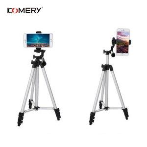 "Image 2 - KOMERY חצובה מחזיק נייד מקצועי מצלמה חצובה אלומיניום חצובה עבור טלפון 1/4 ""בורג 360 תואר tripode para camara"