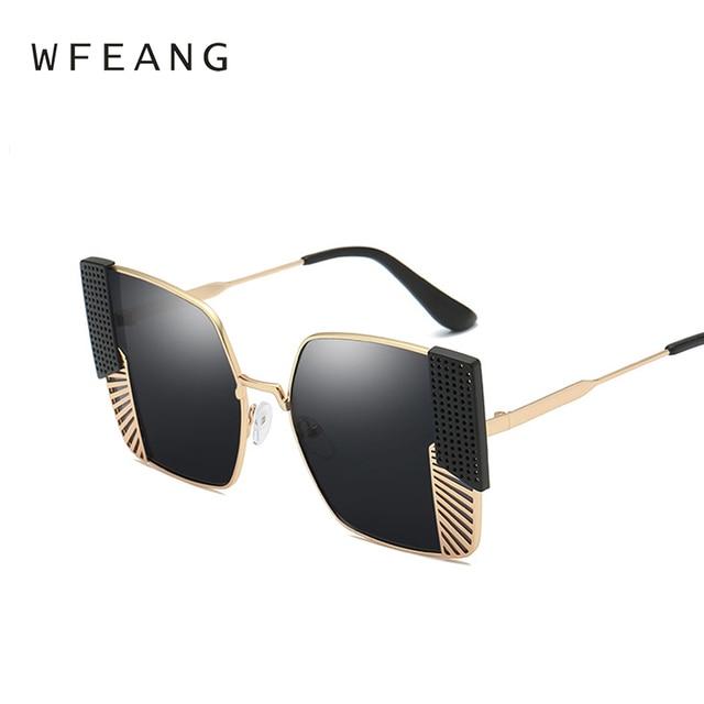 c1c985c88b1 WFEANG New Fashion square Sunglasses Women Brand Designer Vintage Gradient  square Sun Glasses Shades For Women