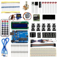 Starter Kit For Arduino UNO R3 Upgraded Version Learning Basic Suite For Uno R3 Board Stepper Motor 1602 LCD DIY Project