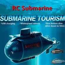 1PC Mini RC Submarine Kids Toy Simulation Submarine Model Bo
