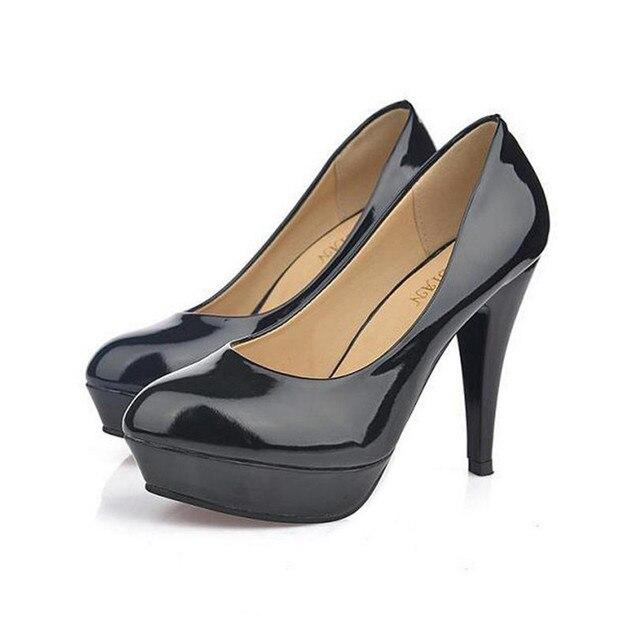 2017 Confortable robe chaussures talon tête ronde professionnel unique noir  à talons hauts chaussures de travail 9318c44136d7