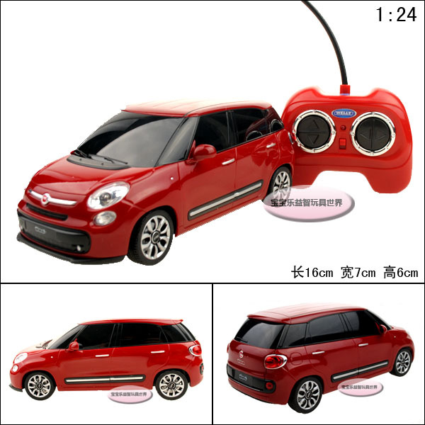 RC toys welly 1:24 500l fiat remote control car models educational toys children