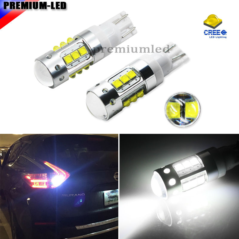2pcs Extremely Bright 70W High Power 906 912 921 T10 168 W5W LED Back Up Reverse Lights, Parking Lights, Xenon White Color 2pcs new upgrade extremely bright high power canbus smd3020 912 921 t15 w16w car led back up light auto reverse lamp bulb