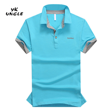 2016 Summer Bussiness Casual Men Polo Shirt Cotton Designer Logo Solid Polo Shirt Fashion Boss Brand Clothing M-3XL/5XL,YK UNCLE
