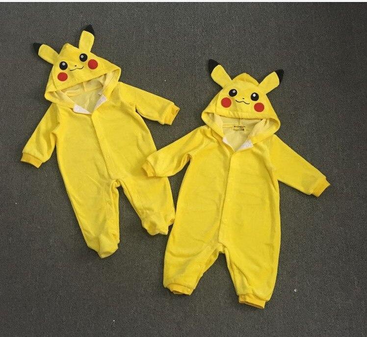 3e4d23e5f8 Neonate Vestiti Neonato Vestiti Pagliaccetti Del Bambino Ragazzi Vestiti  Pigiama Pokemon Bambini bambino Pikachu costumi Tute Infantile 3 6 24 M in  Neonate ...