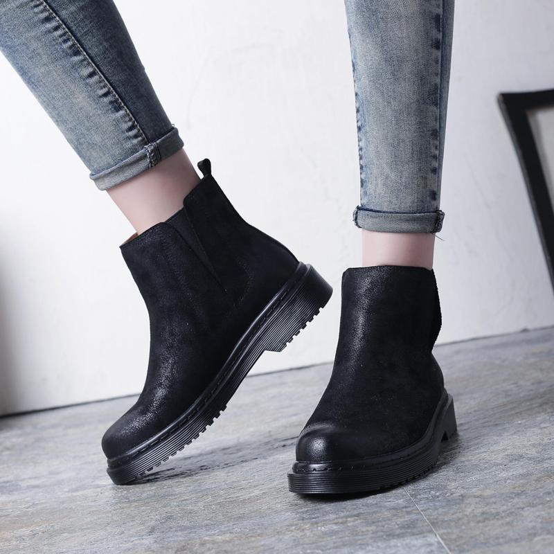 HZXINLIVE 2018 Autumn Winter Ankle Boots for Women Genuine Leather Sewed Chelsea Boots Suede Platform Shoes Short Fur Boots цена 2017