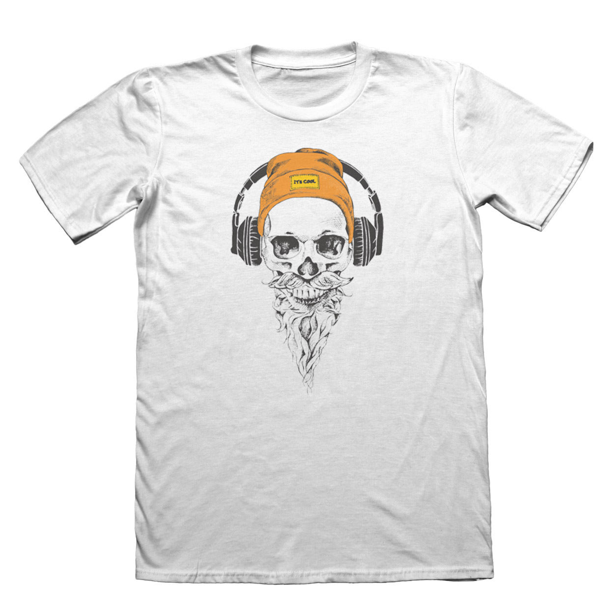 Hipster Skull T-Shirt - Mens Fathers Day Christmas Shirts Homme Novelty T shirt Men High Quality For Man Better