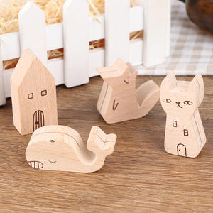 Card-Holder Display-Board Photo-Clip Wooden Base-Notes Memo Information Message Cartoon