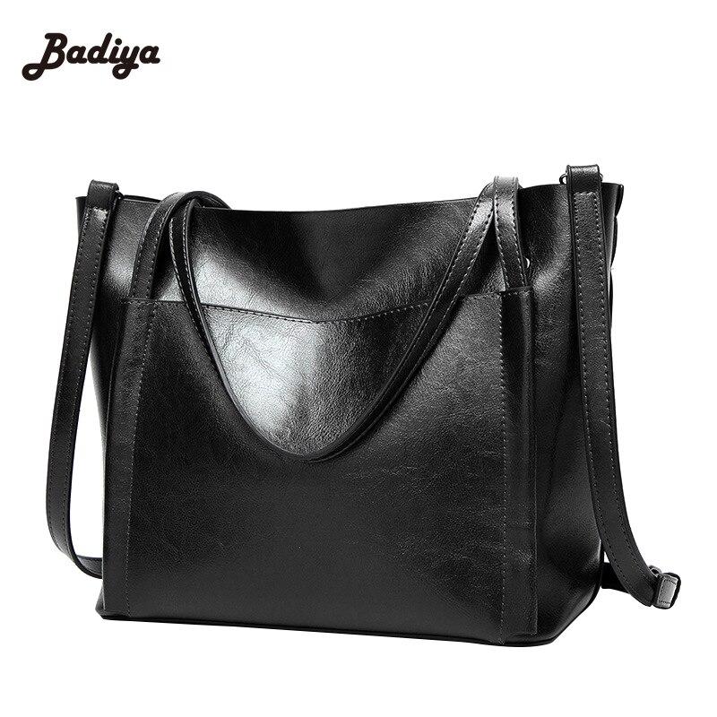 Vintage Solid PU Leather New Women Handbag Single Shoulder Bag Big Ladies Tote Crossbody Messenger Bags Feminino Bolsas