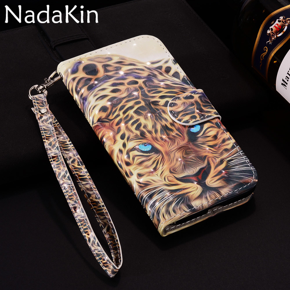 3D Vision Painted Phone <font><b>Case</b></font> <font><b>Leather</b></font> for <font><b>Nokia</b></font> 2 3 5 Stylish <font><b>Flip</b></font> Book Cover with Wallet Pocket for <font><b>Nokia</b></font> 3.1 5.1 <font><b>6.1</b></font> 7.1 image