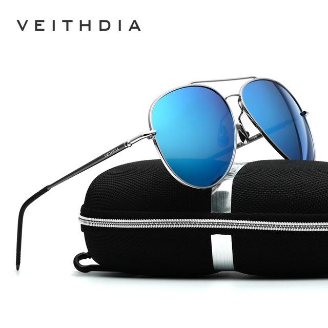 2017 new veithdia hombres gafas de sol de diseñador de la marca de girar 180 grados de la pierna de la vendimia gafas de sol gafas gafas de sol masculino 3618