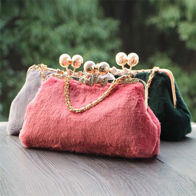 RUBIHOME Handmade DIY Crafts Material for Women Clutch Purse Frame Banquet Wedding Party Purses Chain Bags(no finished) 25*15*9