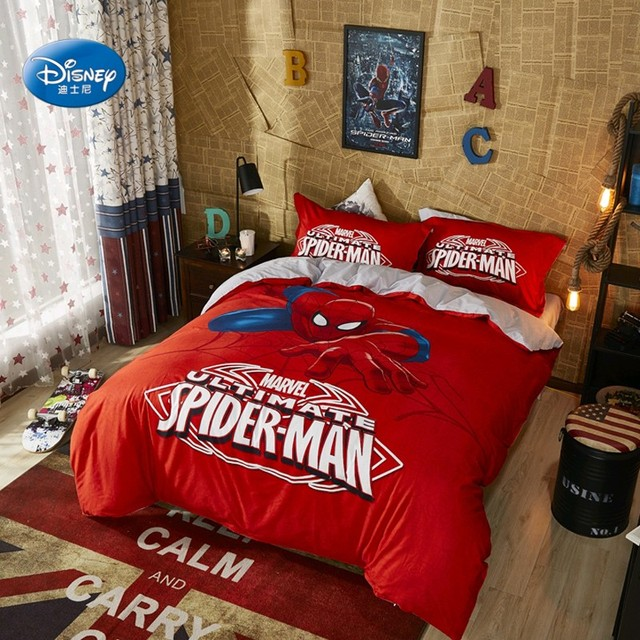 Spiderman Bedding Set For Kids Comforter Duvet Covers Bedroom Decor Queen Bed Sheet Pillowcases Boys Home In Sets From Garden