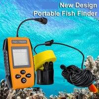 Gratis Verzending! hot Koop Alarm Gloednieuwe 100M Portable Sonar Kleurrijke Lcd Fish Finder Vissen Lokken Echolood Fishfinder