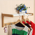 Creative Bamboo Wall Rack Angle Hanger Hanging Hooks Bathroom Hook Door For Clothes Decorative