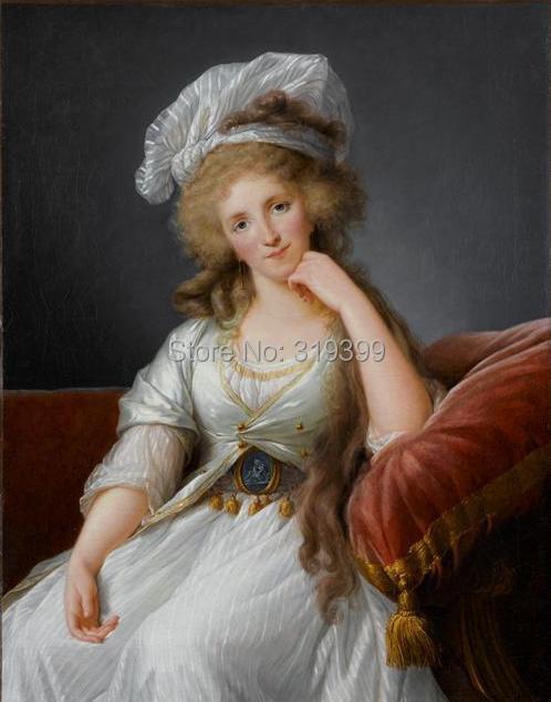 Louise-marie-ad-la-de-de-bourbon-penthi-erv par Louise Elisabeth Vigee Le Brun, reproduction de peinture à l'huile, à la main, LIVRAISON GRATUITE