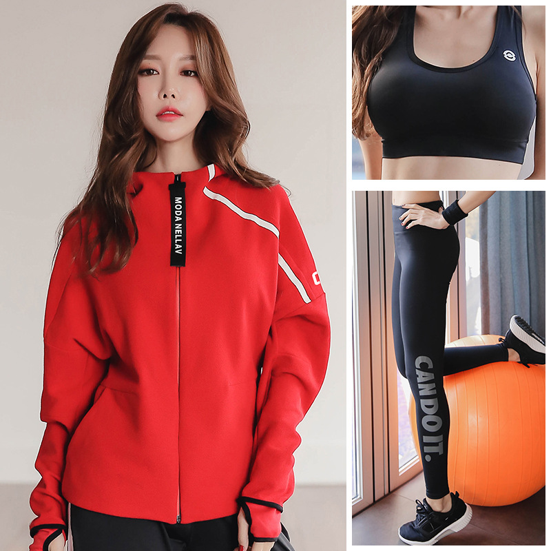 Reallion Tracksuit Women Yoga Set Running Jacket Sports Bra Pants Fitness Gym Suit Set Women With Plus Size Sport Coat Winter fitness workout clothing and women s gym sports running girls slim leggings tops women yoga sets bra pants sport suit for female