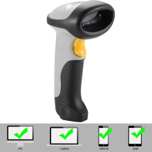 цена New CT10 Wireless Bluetooth 1D Barcode Scanner Mini Barcode reader for iOS  Android windows System bar scanner