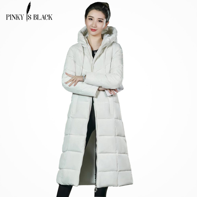 PinkyIsBlack 2018 Plus Size 6XL Women Winter Jackets Down Cotton Padded Female X-Long Parkas Hooded Winter Coat Women Jackets