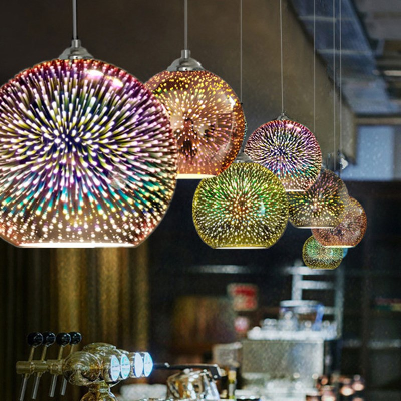 Retro Pendant Lamp With Stained Glass Lamp For Kitchen Diningroom Bar Bedroom Industrial Luminaires Indoor Moroccan Hanging Lamp