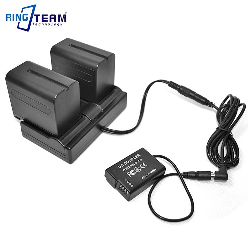 Dual Channel NPF Battery Power Supply Adapter + DMW-DCC9 for Panasonic Camera DMC-GX1 GF2 G3 GF2CR GF2KR GF2CW GF2CK GF2KW GF2CS new lcd touch screen for panasonic lumix dmc gf2 for gf2 for gk digital camera repair part