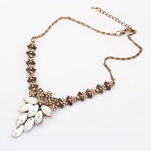 Fashion vintage royal wind flower  luxury icicle short design necklace