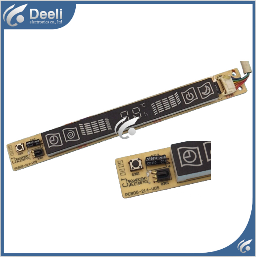 95% new good working for Kelon air conditioning board PCB05-214-V05 PCB05-214-V04 Receiver board display board set 95% new for air conditioning motherboard pc board pcb05 351 v05 display panel pcb05 314 v05 board good