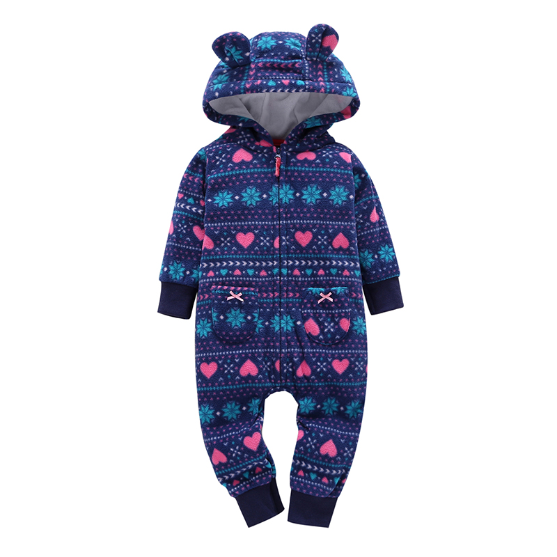 autumn winter infant baby clothes newborn outwear costume fleece cute long sleeve hooded one piece romper for baby boy girl