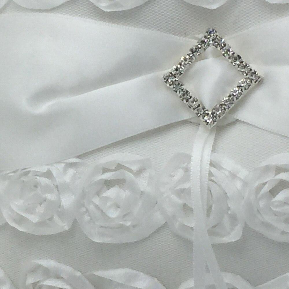 OurDecor 4 Pcs/lot blanc fleur décoration mariage invité livre & stylo ensemble & anneau oreiller & filles fleur panier décor produits de mariée - 4