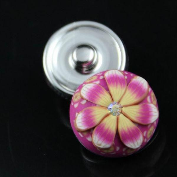 10pcs/lot NEW Women Snap  flower clay press silver watch Fit Snaps Style leather Bracelets Free ship