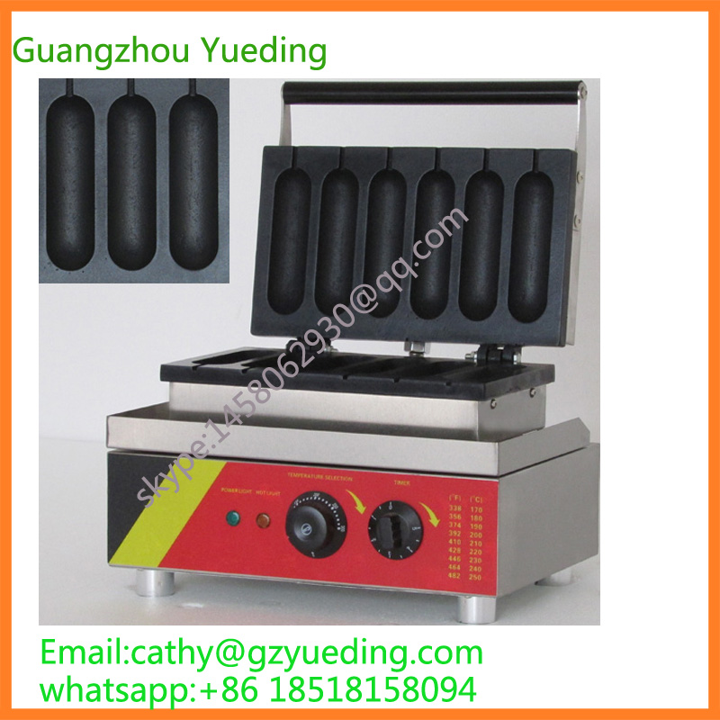 Commercial high quality hot dog rolling grill machine maker waffle baker commercial smooth milk hot dog stick waffle baker maker machine for hot dog