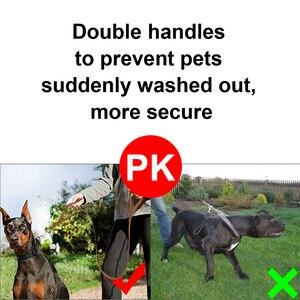 Image 2 - Geniune 革ペット犬リーシュロープペット K9 トレーニングウォーキングリードリーシュコード中大犬クイック制御 2 ハンドル
