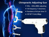 Newest Electric Correction Activator Gun Massager 4 Heads adjustable intensity Therapy Impulse Chiropractic Adjusting Instrument
